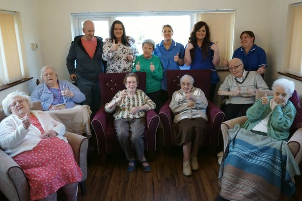 Staff at Lumb Valley Care Home